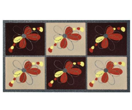 Covoras de intrare Flomat Flowers Beige Brown 40x70 cm