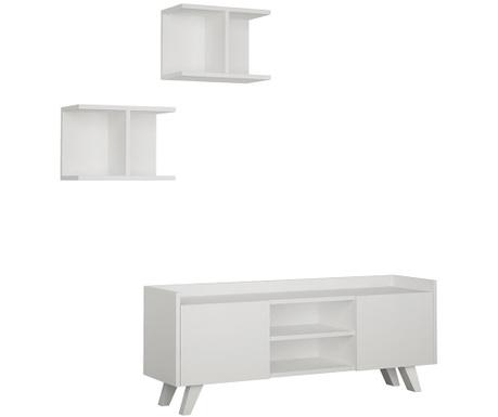 Set - TV komoda in 2 viseča elementa Trap White