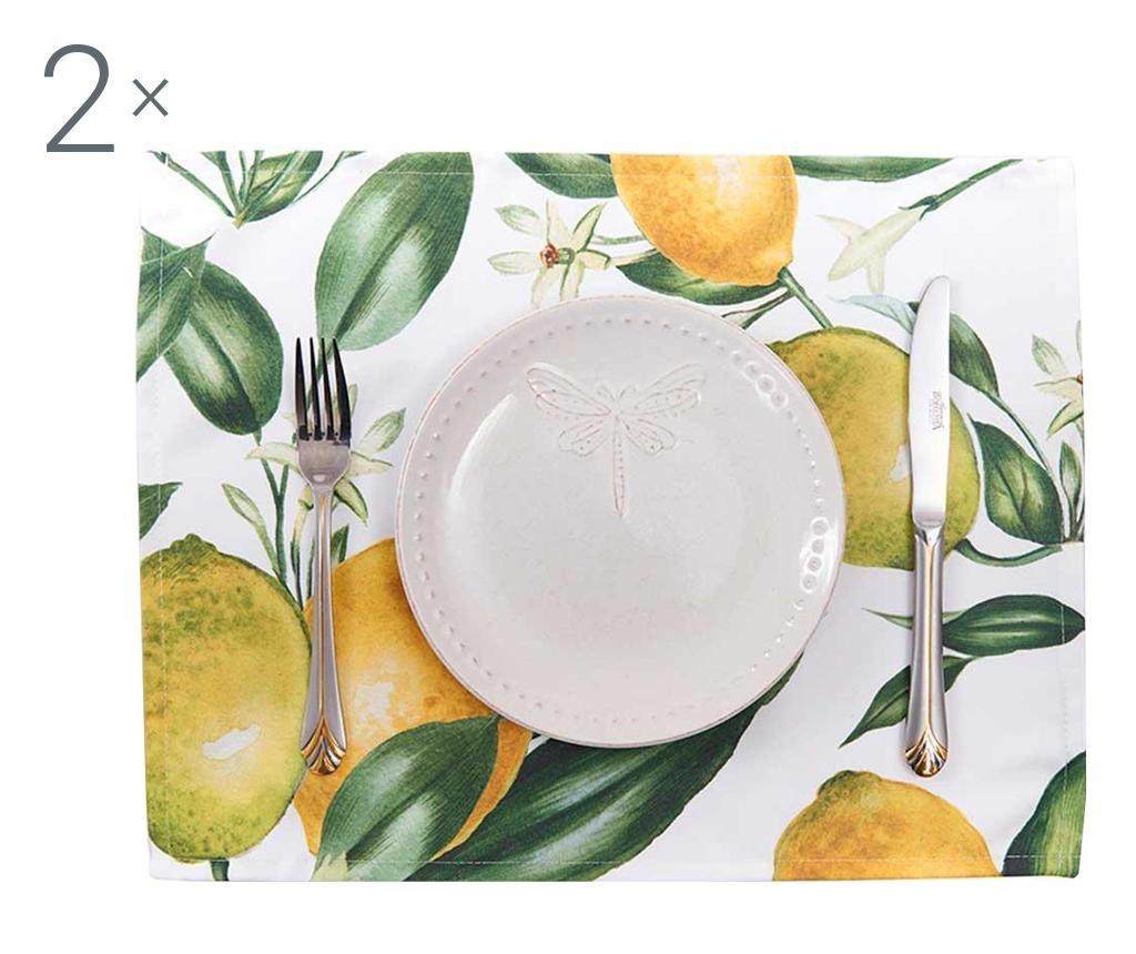 Lemons 2 db Tányéralátét 33x45 cm