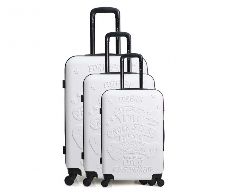 Set 3 trolere Lulu Rock Star White