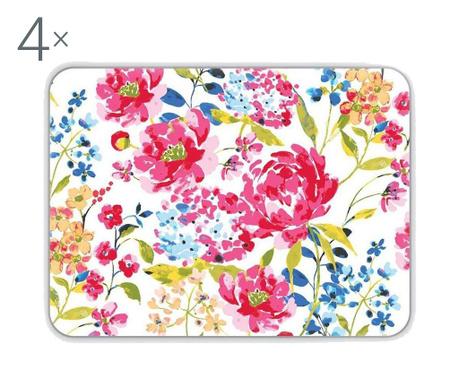 Zestaw 4 podkładek stołowych Floral Romance 21.5x29 cm