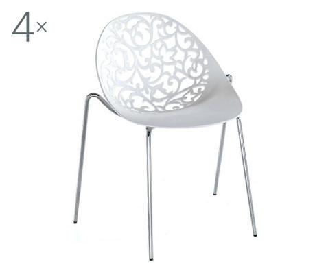 Sada 4 židlí Eura Kromo