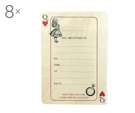 Комплект 8 покани и пликове Alice