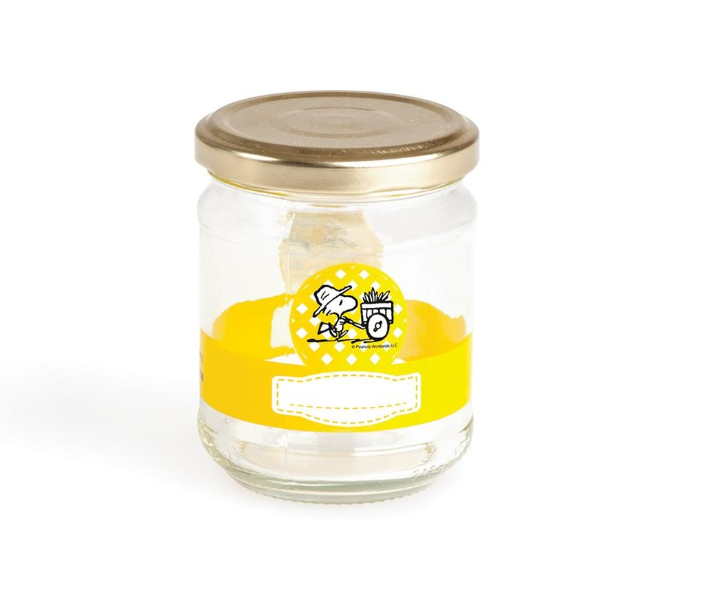 Borcan cu capac Peanuts Yellow 200 ml