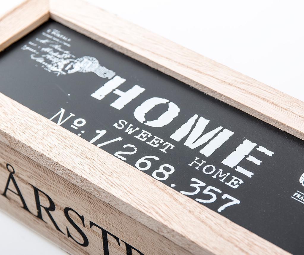 Krabica s vekom na čaj Sweet Home Wide