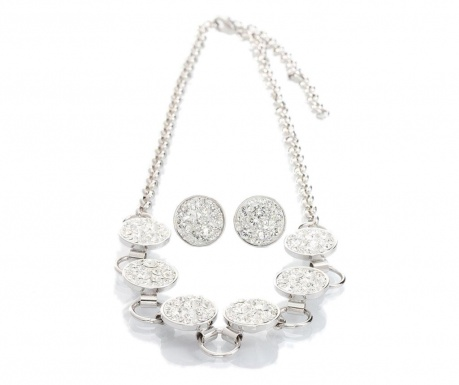 Set ogrlica i naušnice Casey Shine