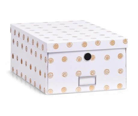Pudełko z pokrywką do przechowywania Gold Dots Plus