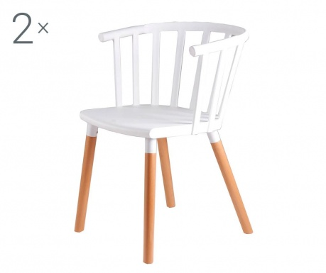Комплект 2 стола Jenna White