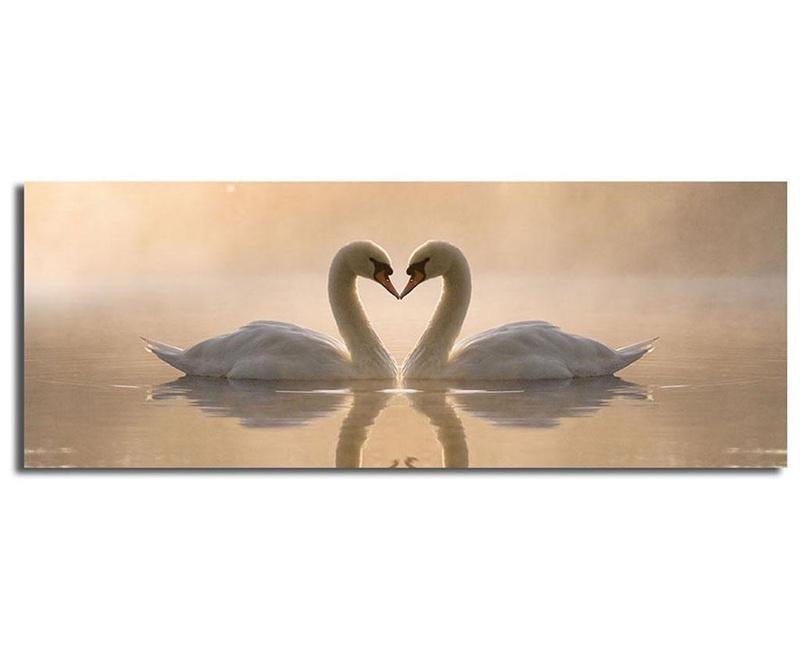 Slika Swans 30x90 cm