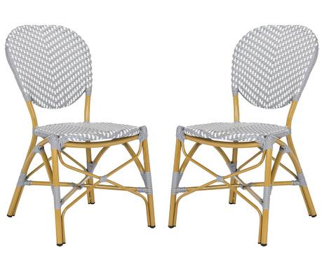 Set 2 stolov Madelein Grey