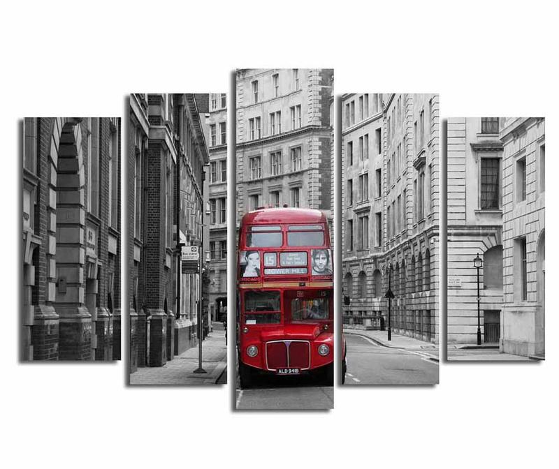 Set 5 tablouri London