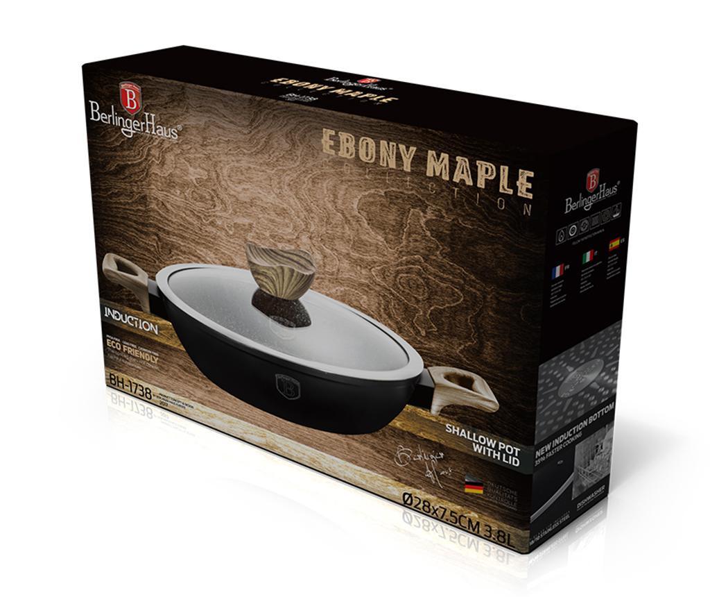 Kozica s pokrovom Ebony Maple 3.8 L