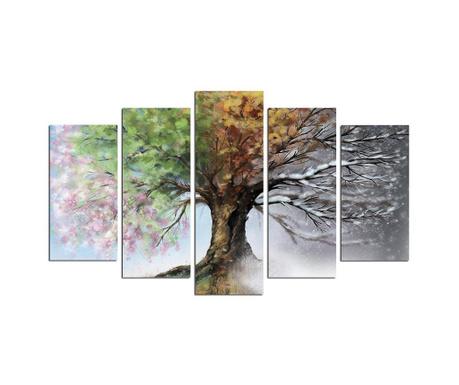 Set 5 slika Seasons Tree
