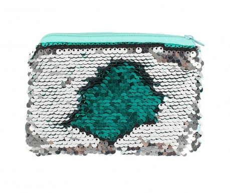 Несесер Sequin Green and Silver