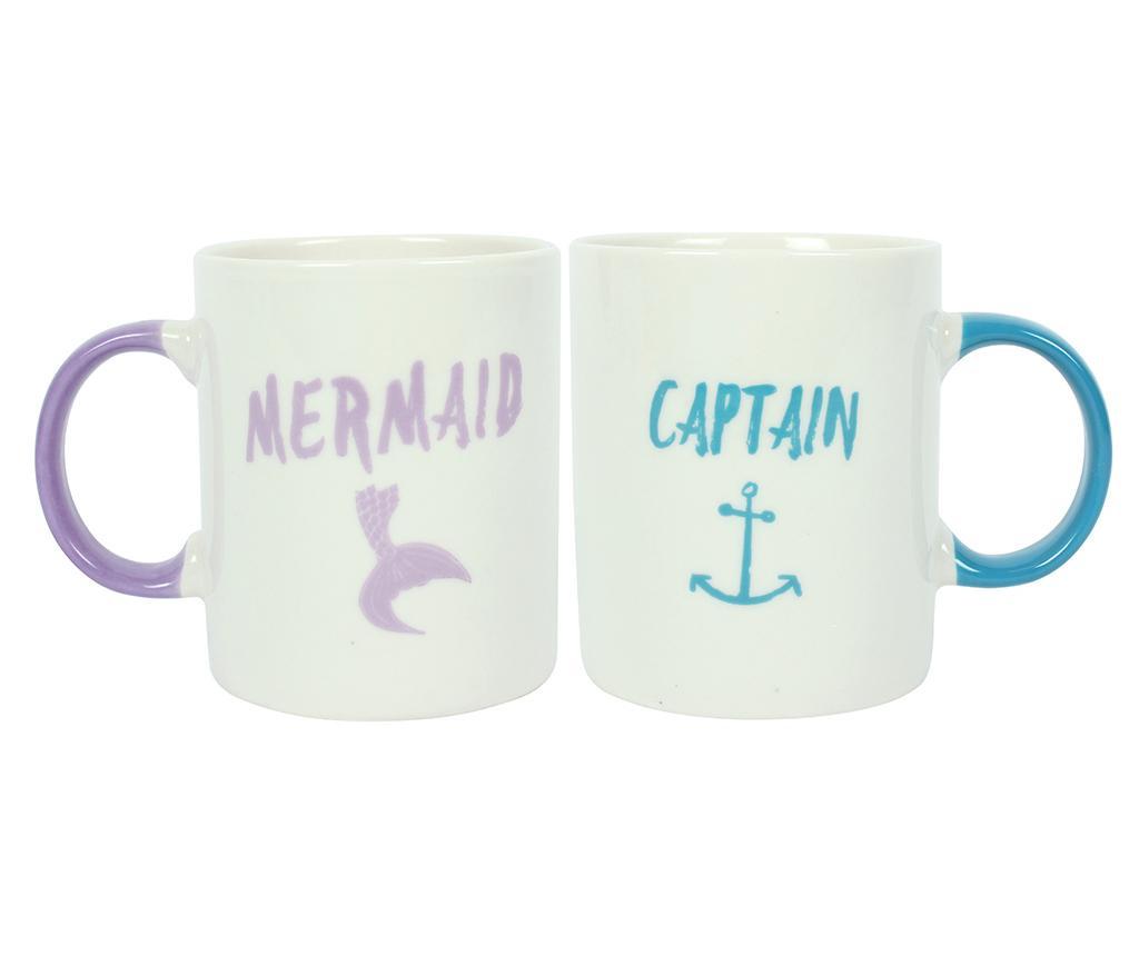 Captain Ceramic 2 Mug Set Mermaid