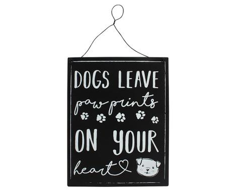 Stenska dekoracija Dog Pawprints