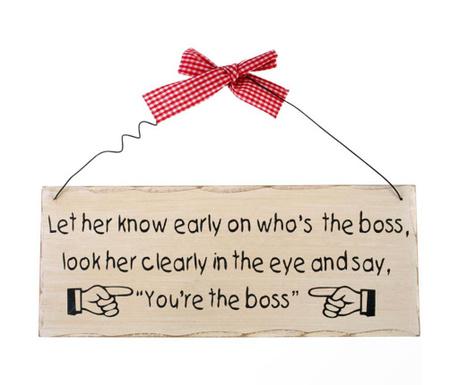 You're The Boss Fali dekoráció