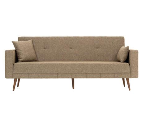 Canapea 3 locuri extensibila Dublin Brown