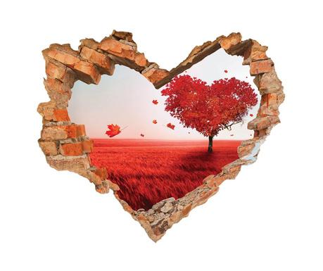 Naklejka 3D Coeur Paysage