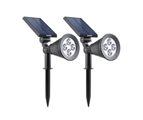 Set 2 lampi solare Spiky