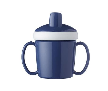Otroška skodelica s pokrovom Nordic Blue 200 ml