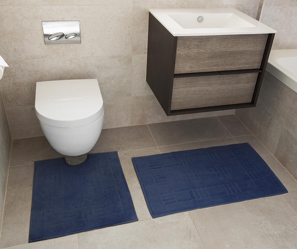 Set ručnik za noge i kupaonski tepih Reversible Verica Denim