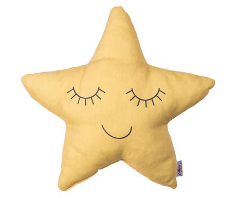 Perna decorativa Twinkle Star Yellow 35x35 cm
