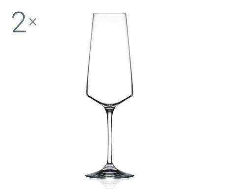 Set 2 kozarcev za šampanjec Aria 360 ml