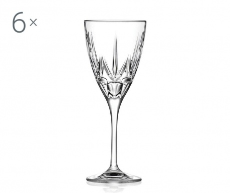 Сервиз 6 чаши за червено вино Chic 280 мл