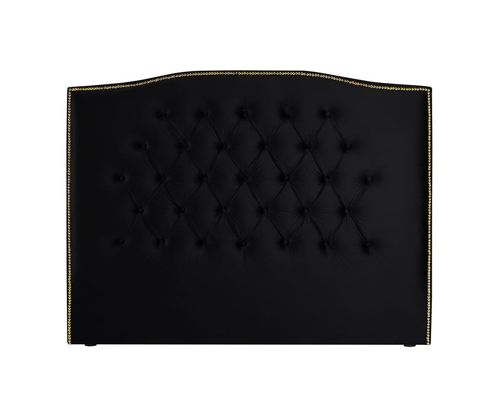 Tablie de pat Daisy Deep Black 180 cm