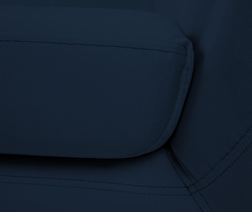 Canapea 2 locuri Benito Dark Blue Natural