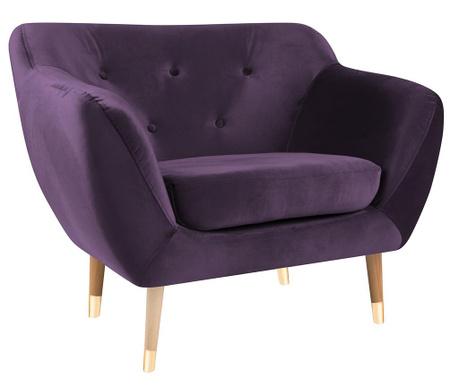 Amelie Violet Natural Fotel