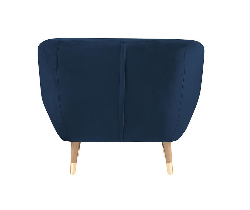 Benito Dark Blue Natural Fotel