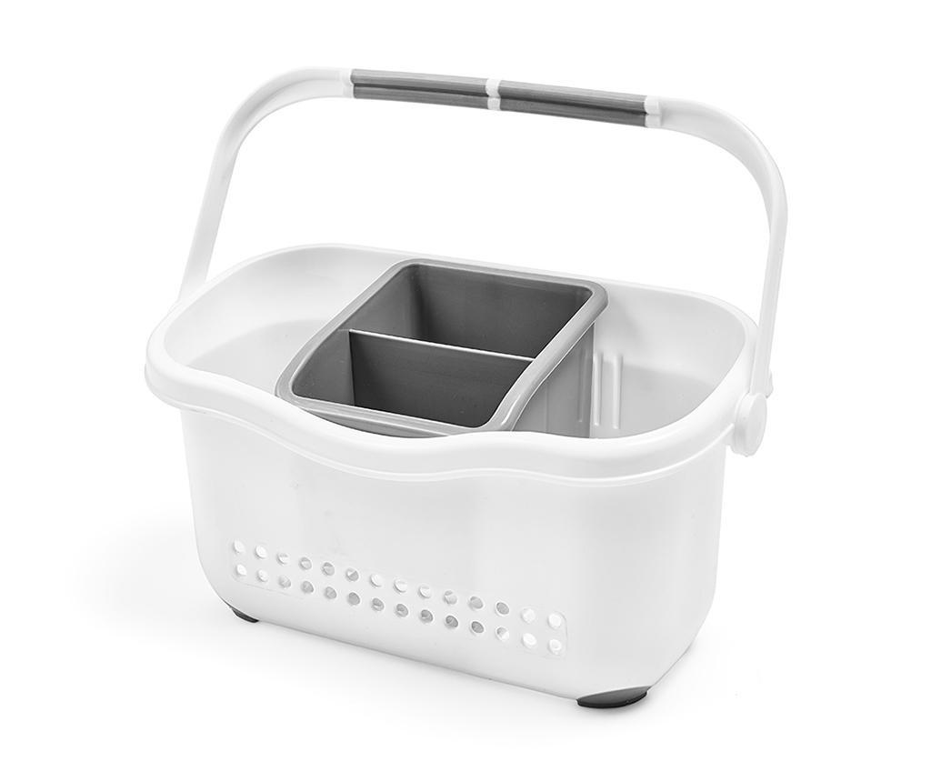 Suport pentru accesorii de bucatarie Caddy White Grey