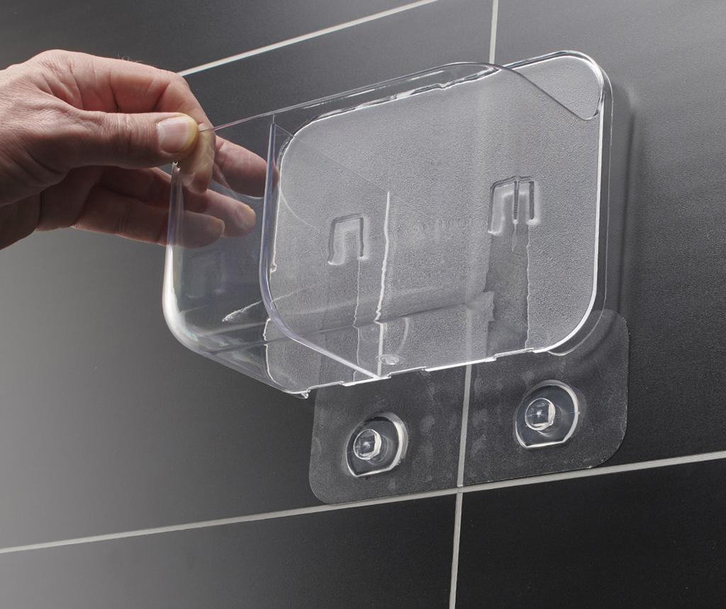 Držák na koupelnové doplňky Invisifix