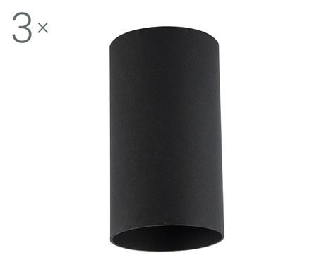 Zestaw 3 lamp sufitowych Briska Black