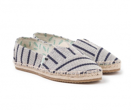 Slim Classic Raya Twill Blue Női espadrille cipő 36