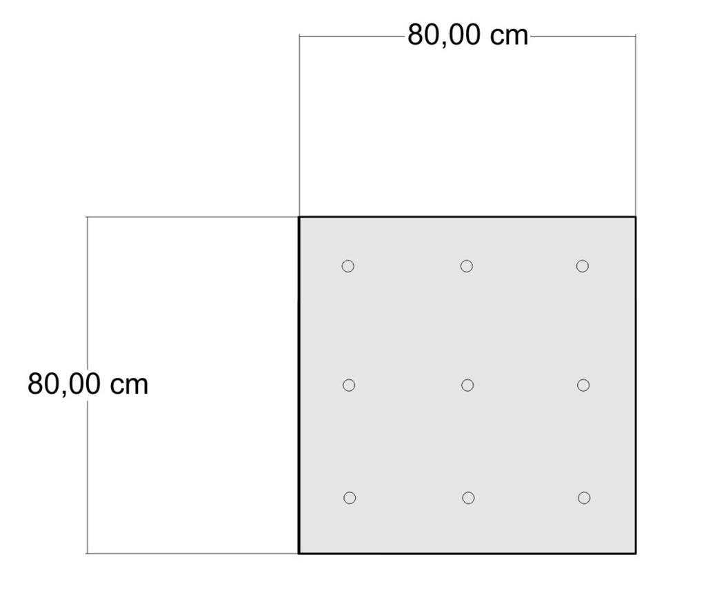 Perna de podea Yantra Red Patch 80x80 cm