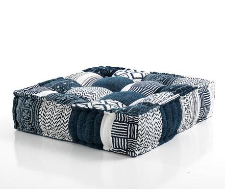 Poduszka podłogowa Yantra White Blue 80x80 cm