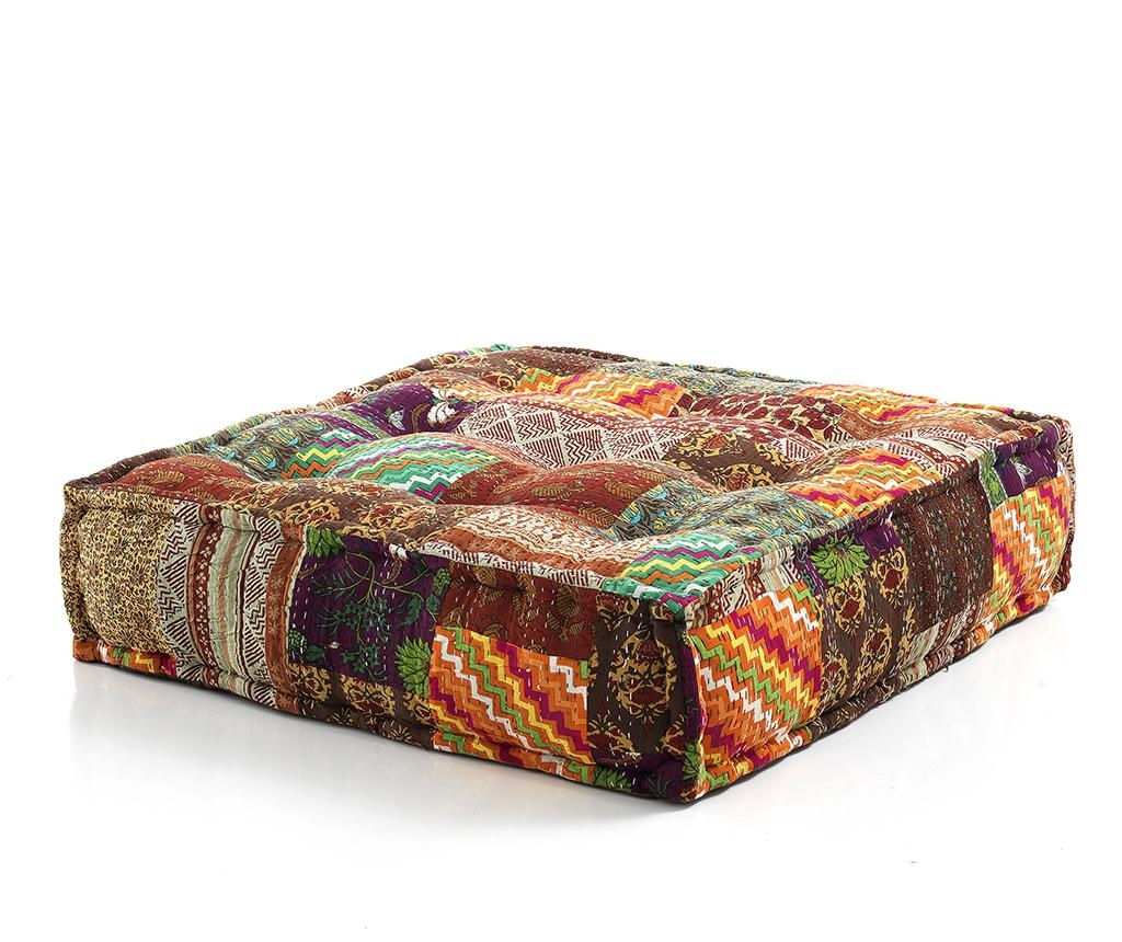 Podlahový polštář Yantra Flowers 80x80 cm