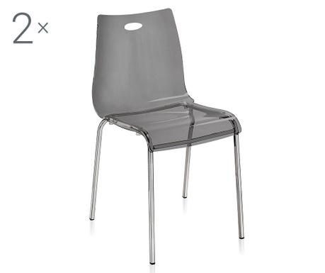 Set 2 scaune Essentia Fume