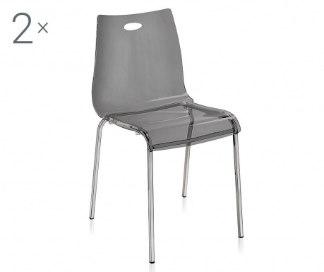 Sada 2 židlí Essentia Fume