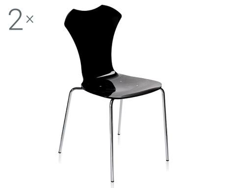Set 2 scaune Neglige Black