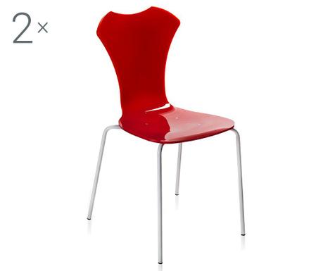 Sada 2 židlí Neglige Red