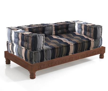 Set 2   jastuka za sjedenje i   postolje za kauč Stripes Brown