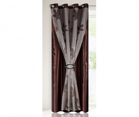Draperie Majorka Double Brown 140x250 cm