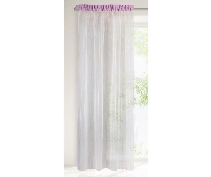 Záclona Arno Cream Purple 140x250 cm