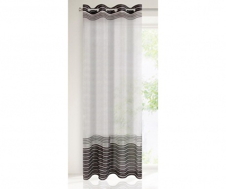 Evi White Black Függöny 140x250 cm