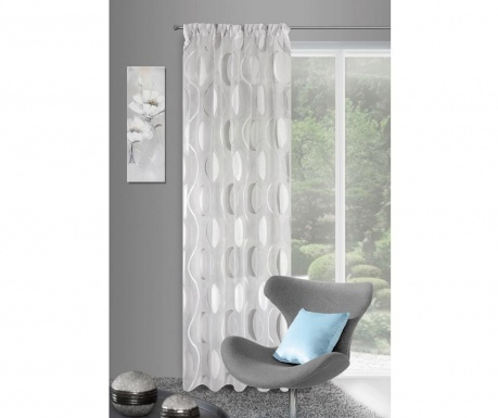 Draperie Wenus White Silver 140x270 cm