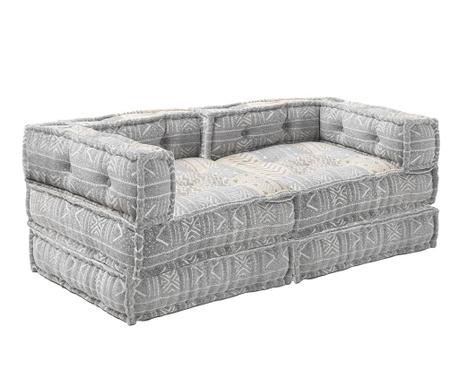 Set 2  jastuka za sjedenje i 2 podna jastuka Yantra Grey Beige